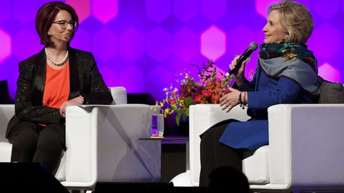 The event in Melbourne was hosted by former Australian Prime Minster Julia Gillard. (AAP)