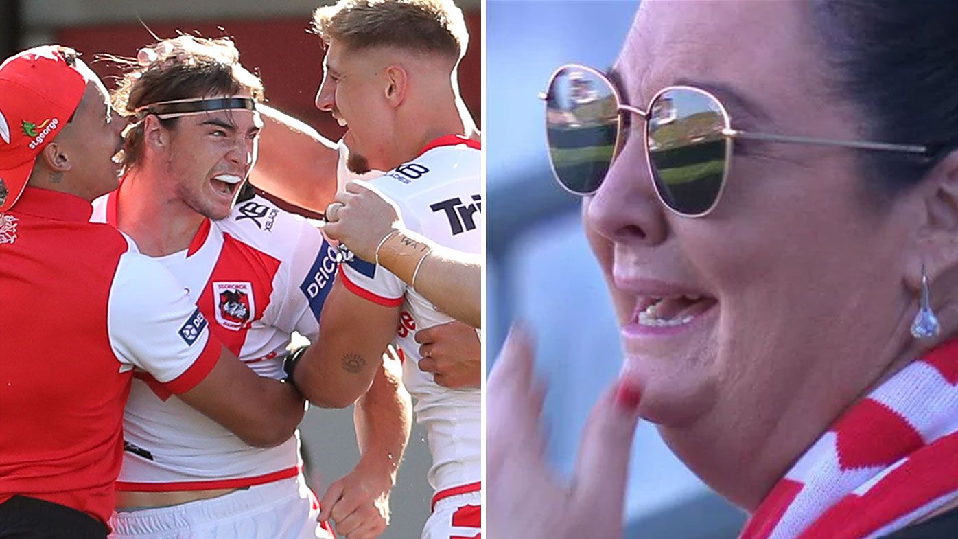 Dragons young gun Cody Ramsey's mum in tears after dream NRL debut