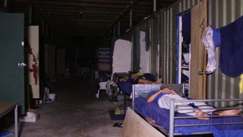 The footage shows the filthy conditions of the rooms in the detention centre. (Supplied)