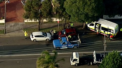Traffic chaos after multi-vehicle crash on south Sydney road