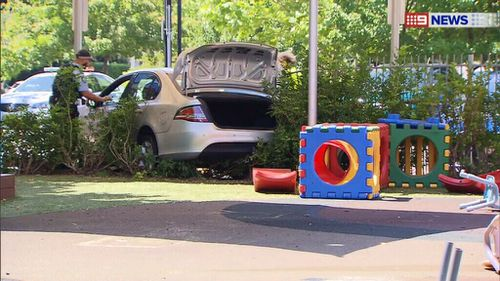 The driver was treated at the scene before being taken to hospital. (9News)