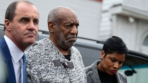 Bill Cosby outside court. (AFP)