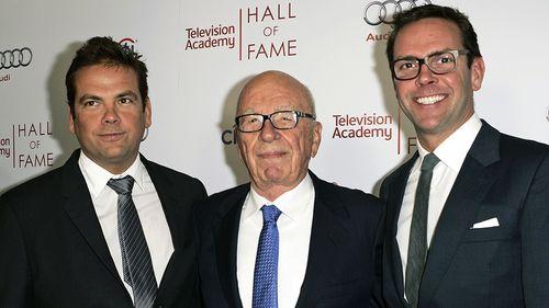 Lachlan, Rupert and James Murdoch. (AAP)