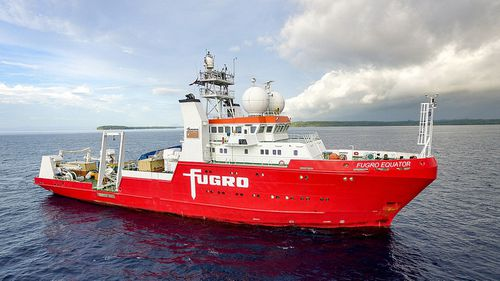 The search used the Dutch-owned 'Furgo Equator' (Royal Australian Navy via AAP)