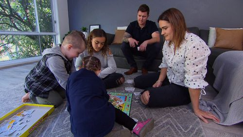 Jase, Karla and their young family had to flee their home after uncovering asbestos during a home renovation project.