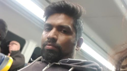 The 19-year-old took a photograph of the man after the alleged assault on the train travelling to Auburn from St James Railway Station.