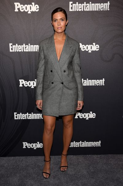 "<p>First it was all about the blazer and now, according to the Hollywood It-girls, it's all about the blazer dress.</p> <p>Actress <a href=""https://style.nine.com.au/2018/02/27/09/05/mandy-moore-blonde-hair"" target=""_blank"">Mandy Moore</a> stepped out overnight at the Entertainment Weekly & People New York Upfronts wearing a Max Mara blazer, and well, not much else.</p> <p>The <em>This is Us</em> star posted a pic to her 2.5 million Instagram followers of her sartorially savvy look with the hasthag ""#forgotmypants"".</p> <p>The blazer dress has become a fan favourite among the A-list with stars such as Gigi Hadid, Kim Kardashian, Blake Lively and Kylie Jenner all a fan of the look power look.</p> <p>Click through to take a look at some of our favourite celebs rocking the trend – and find out where you can get your hands on one too. There's something for every budget.</p>"