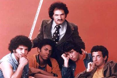 "That's what <I>Welcome Back Kotter</I> is called in Italian, where its title is ""I ragazzi del sabato sera"". If you're wondering what a high-school sitcom has to do with with Saturday nights, the answer is: nothing. It was called ""Saturday Night Guys"" to capitalise on the success of <I>Saturday Night Fever</I>, which also starred John Travolta."