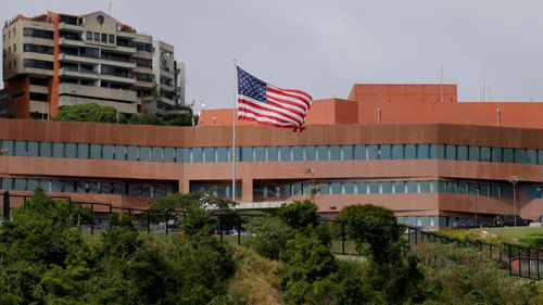 The US embassy in Caracas.