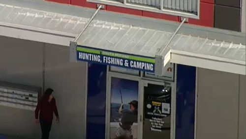 Three masked men have targeted a South Morang camping store. (9NEWS)