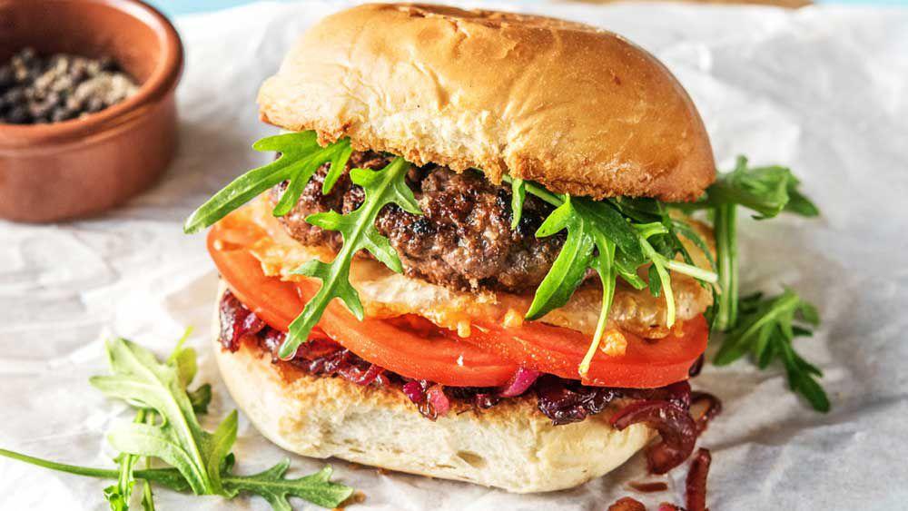 Crispy cheddar beef burger