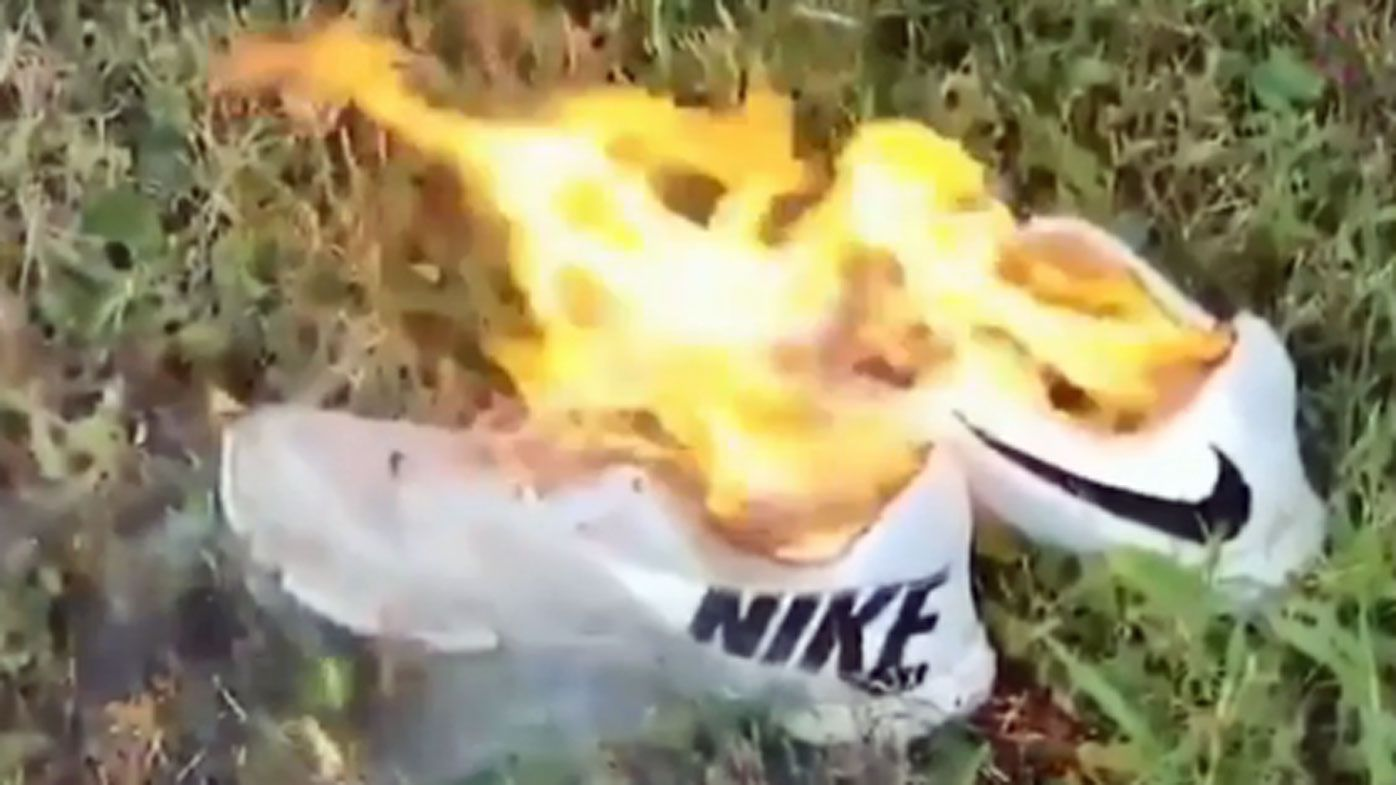 Sports fans burn Nike's in protest over NFL star Colin Kaepernick controversial ad campaign