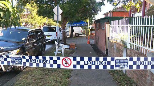 Investigations continued at homes in Lakemba this morning following the arrest of four men. (Network)