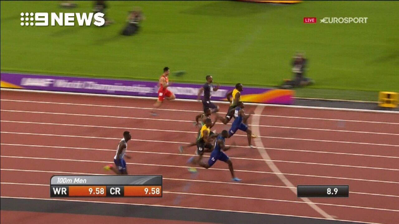 Usain Bolt finishes third in his last 100m solo race