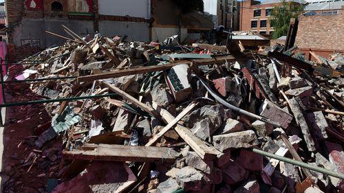"The Corkman Irish Pub was demolished despite a ""stop work"" notice."
