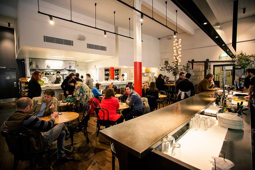 The Flinders Lane restaurant in Melbourne's CBD serves contemporary cuisine, and is regularly bustling with food lovers. (Cumulus Inc)