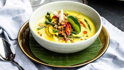 Bali Kenus yellow curry seafood soup