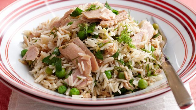 Tuna and herb pilaf
