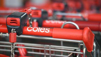 Coles supermarket trolleys.