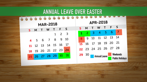 A two-week holiday over Easter could be on the cards.