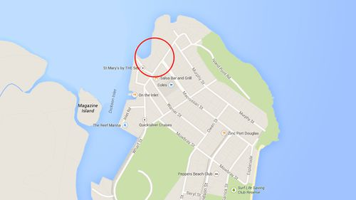 The shark attack victim was brought to The Sugar Wharf on Macrossan Street in Port Douglas. (Google Maps)