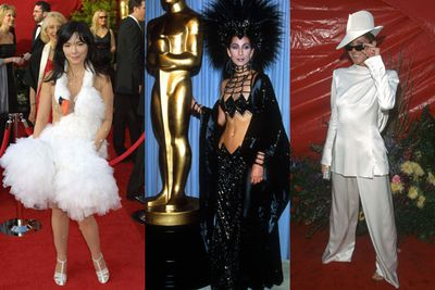 From trashy to daggy to downright scary, we take a hilarious look back at some of the most shocking red carpet moments in Academy Awards history. Let's hope we see some more fashion disasters at Monday's awards!