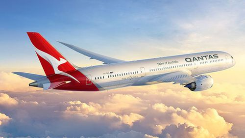 How the new logo and branding might look in the air. (Qantas)