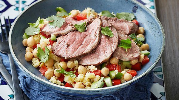 Kate Waterhouse's sumac roast lamb with couscous salad