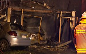 Brisbane family lucky to be alive after home engulfed by flames