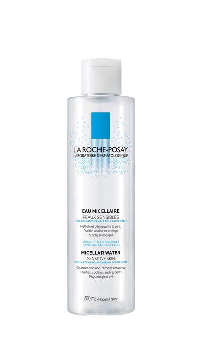 """<a href=""""http://www.adorebeauty.com.au/la-roche-posay/la-roche-posay-micellar-cleansing-water.html"""" target=""""_blank"""">Micellar Cleansing Water, $25.95, La Roche-Posay atadorebeauty.com.au</a>"""