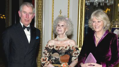 Heir apparent to the English throne Prince Charles and his second wife Camilla, Duchess of Cornwall, with the Duchess of Alba in February 2011. The Spanish noblewoman was a distant relative of Prince Charles' first wife Diana. (AAP)