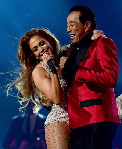 Jennifer Lopez and Smokey Robinson