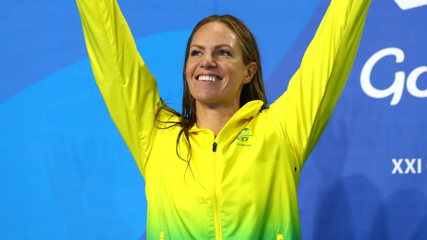 Emily Seebohm celebrates silver