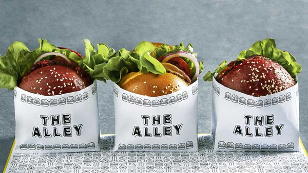 The Alley's vegan maple bacon burger