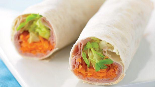 Ham and vegie wrap