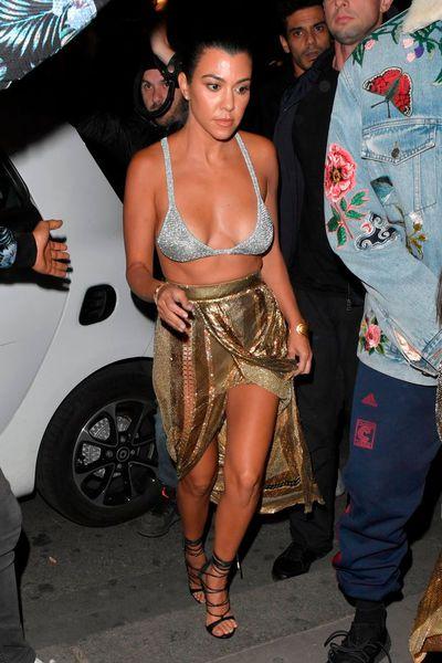 Kourtney Kardashian in Paris, Sep, 2016