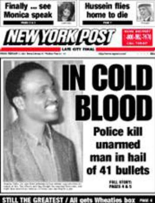 How the New York Post reported on the shooting.