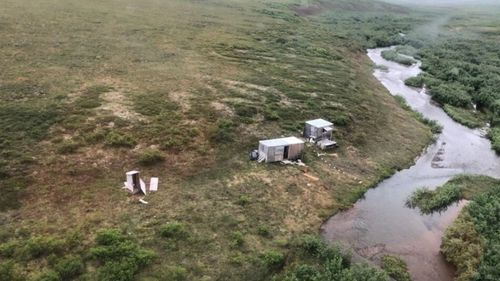 The area where the man was rescued from in Alaska.