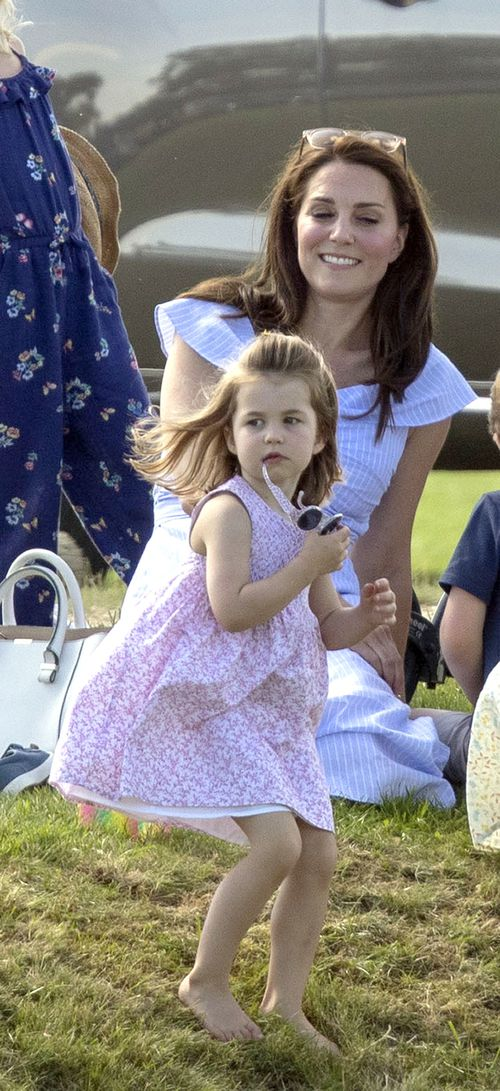 The Duchess of Cambridge and her daughter Princess Charlotte. Picture: AAP