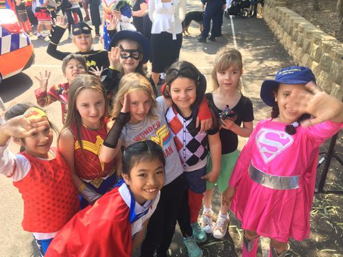 Super heroes of all kinds made the most of the day.