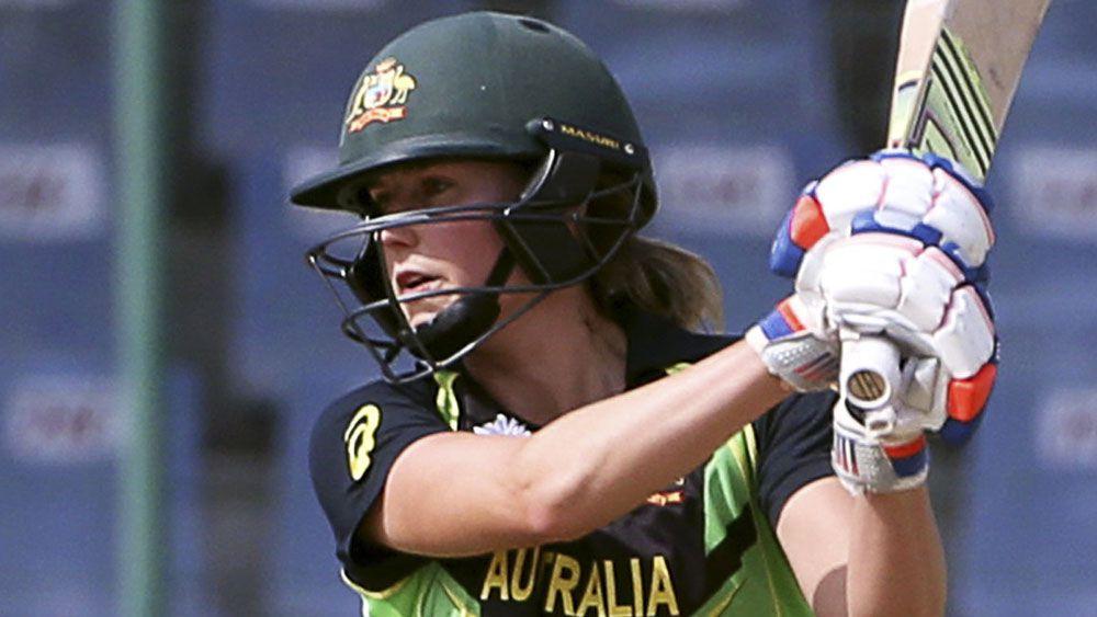 Meg Lanning smashed a superb 134 for Australia. (AAP)