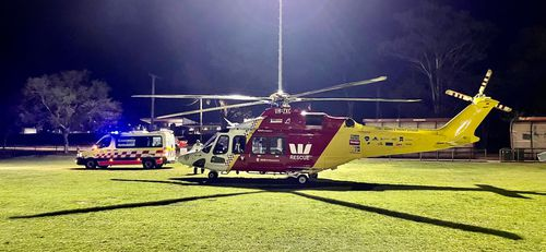 Man flown to Sydney in induced coma after gas explosion