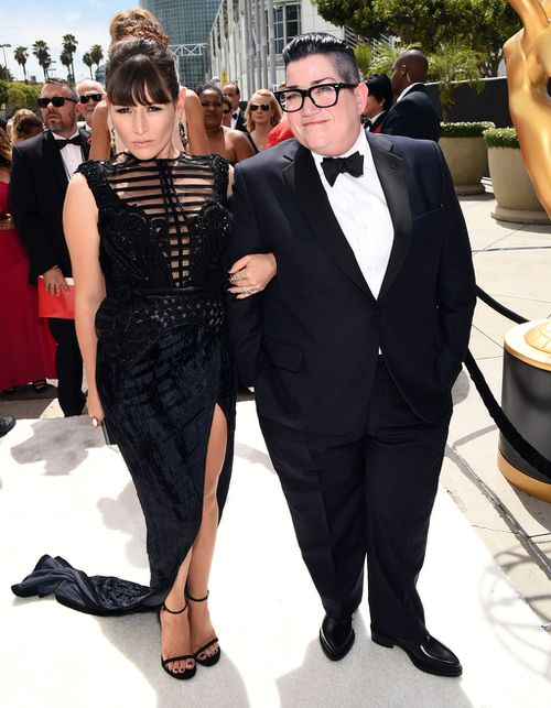 Australia's Yael Stone and US comedian Lea DeLaria, from Orange is the New Black. (Getty Images)