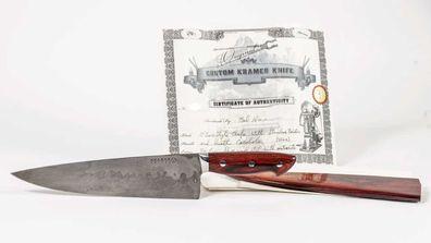Anthony Bourdain auction: knife