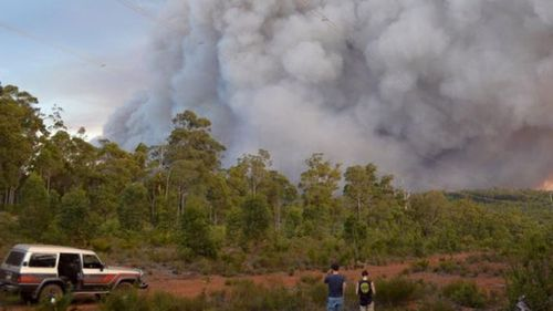 Firefighters believe more than 71,000 hectares of land was burnt out. (9NEWS)