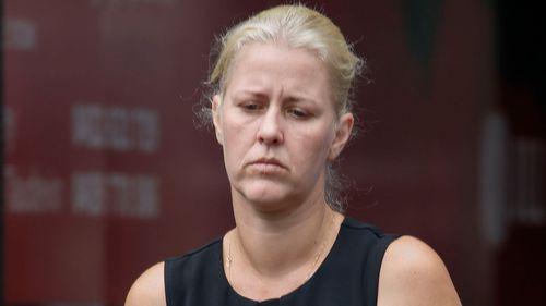 Heidi Strbak arriving at the Supreme Court in Brisbane last month. (AAP)