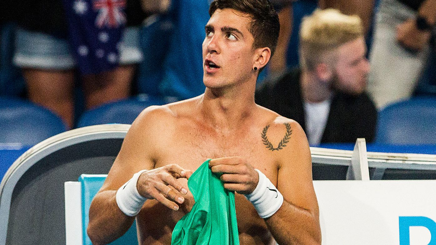 Tennis star's outburst may have revealed Thanasi Kokkinakis injury as broken knee cap