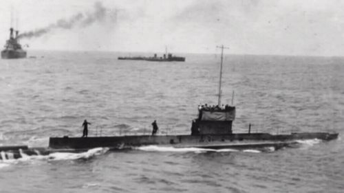 An undated image of Australian submarine AE1 that vanished on September 14, 1914. (AAP)