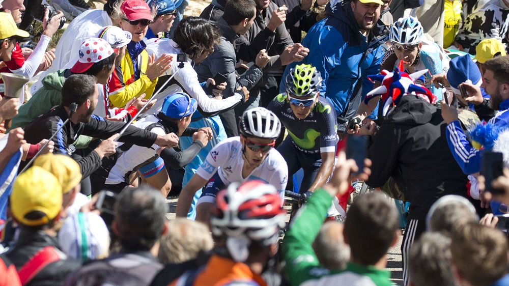 Crowds encroach on riders at the Tour de France (AP)