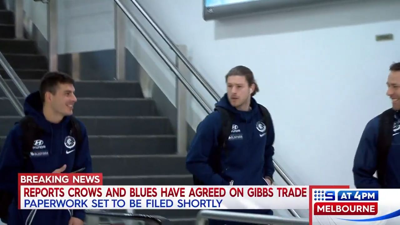 Bryce Gibbs off to the Crows
